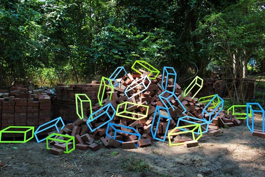 Nihalani Bricks 1000 Городские инсталляции от Aakash Nihalani. gorodskoy dizayn